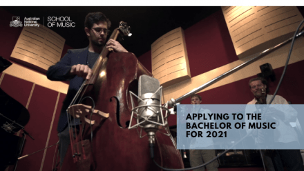 Applications to the Bachelor of Music 2021 Now Open