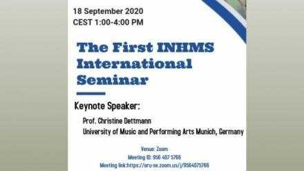 The First INHMS International Online Seminar