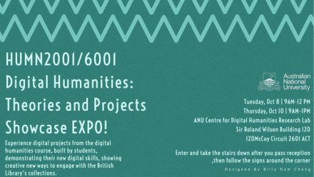 Digital Humanities Projects Showcase Expo!