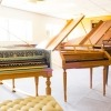 On the left the new Carey Beebe harpsichord, along with other instruments in the Keyboard Institute collection